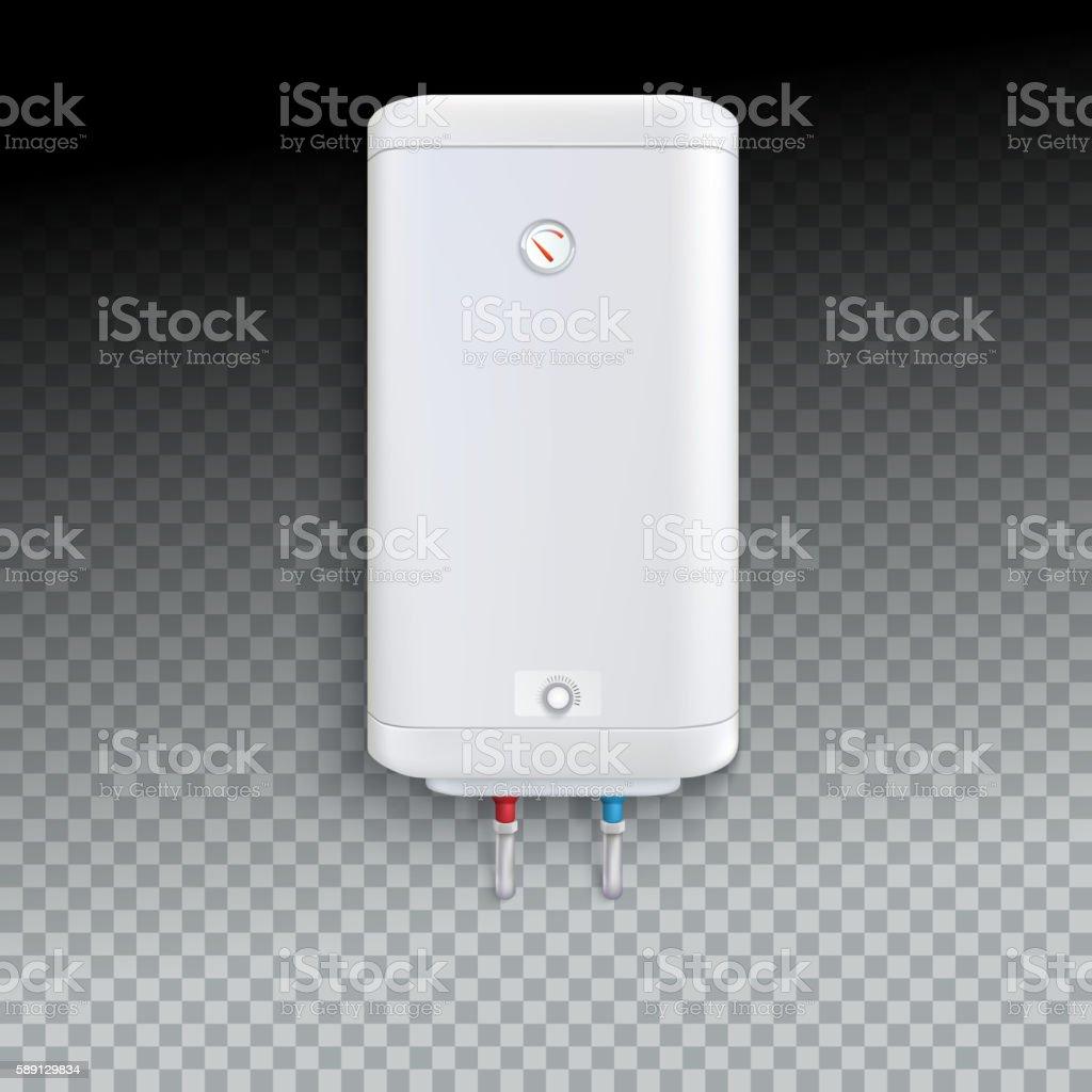 Electric water heater vector art illustration
