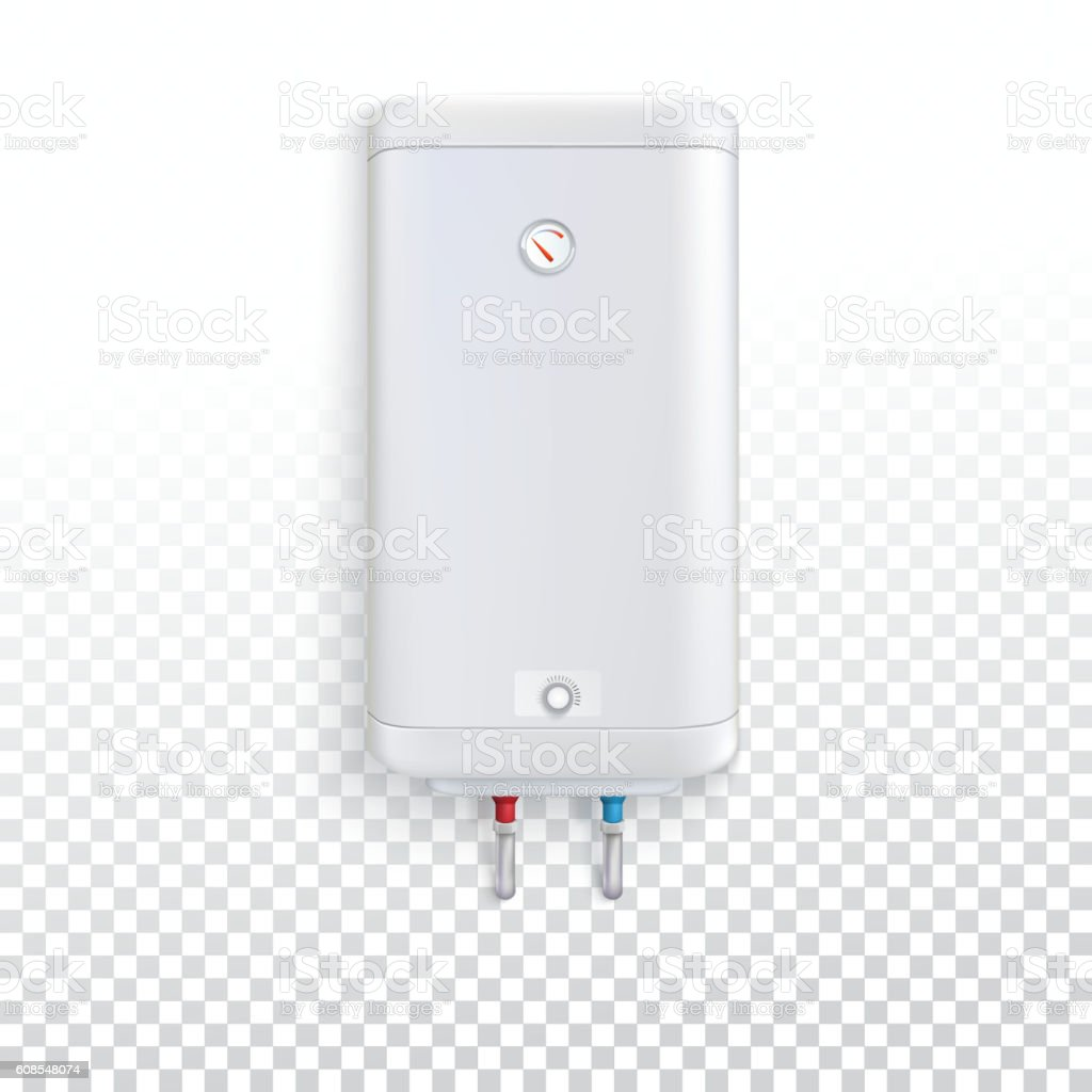 Electric water heater vector art illustration