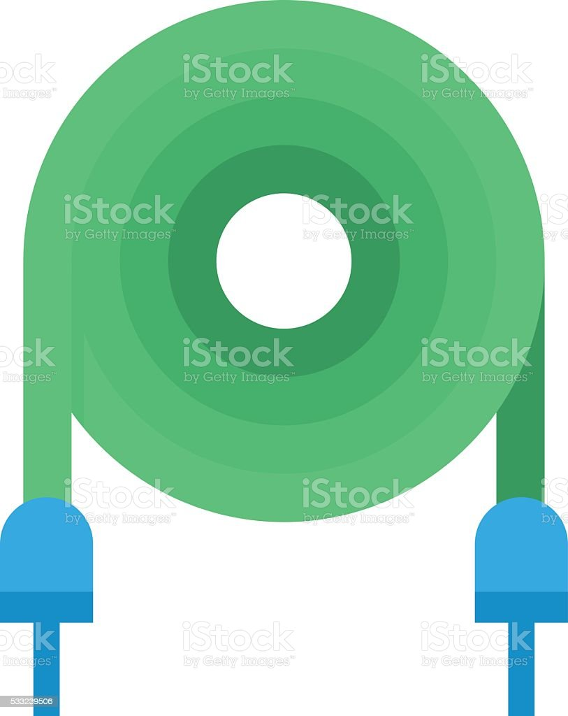 Electrical cable vector illustration vector art illustration