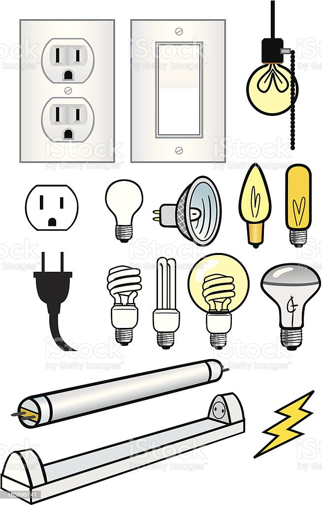 Electrical Elements royalty-free stock vector art