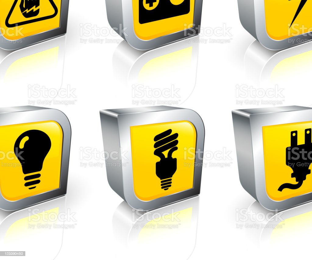 electrical equipment 3D royalty free vector icon set royalty-free stock vector art