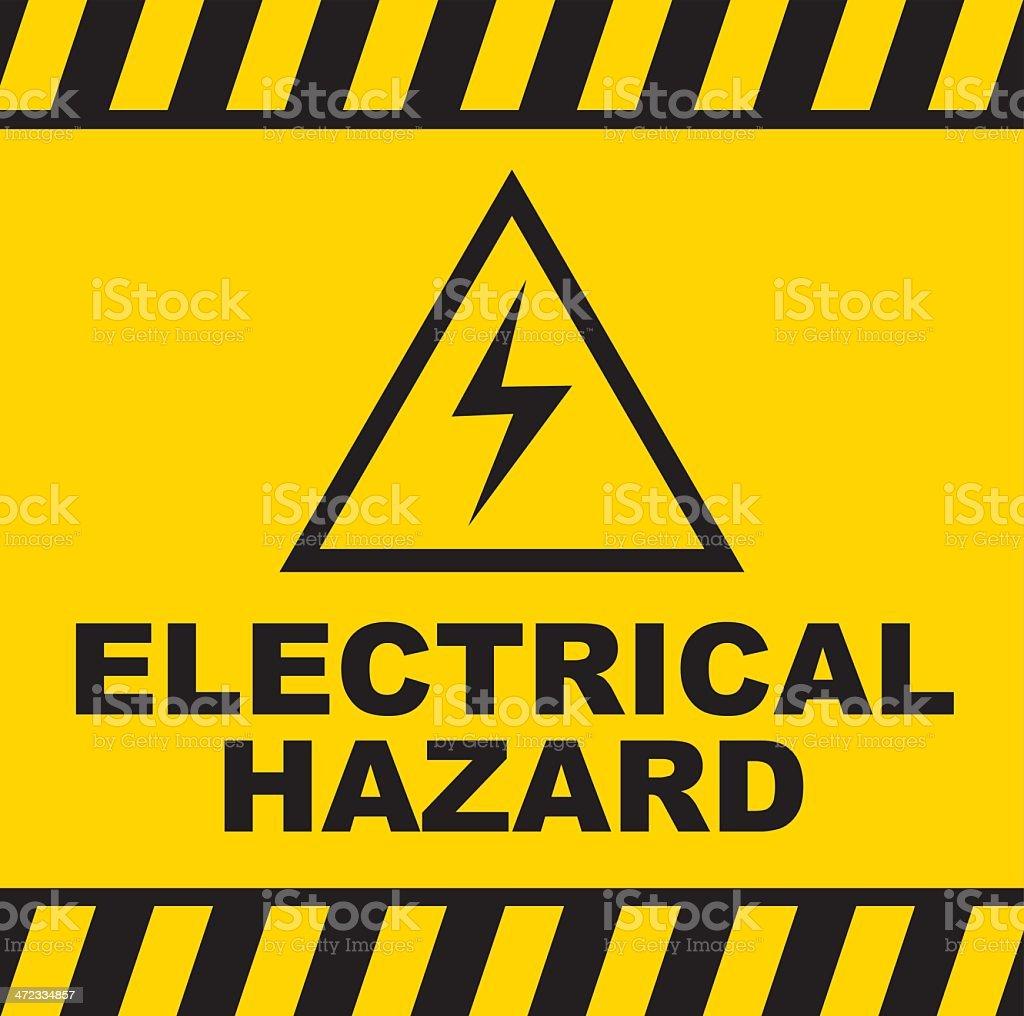Electrical Hazard warning sign vector art illustration