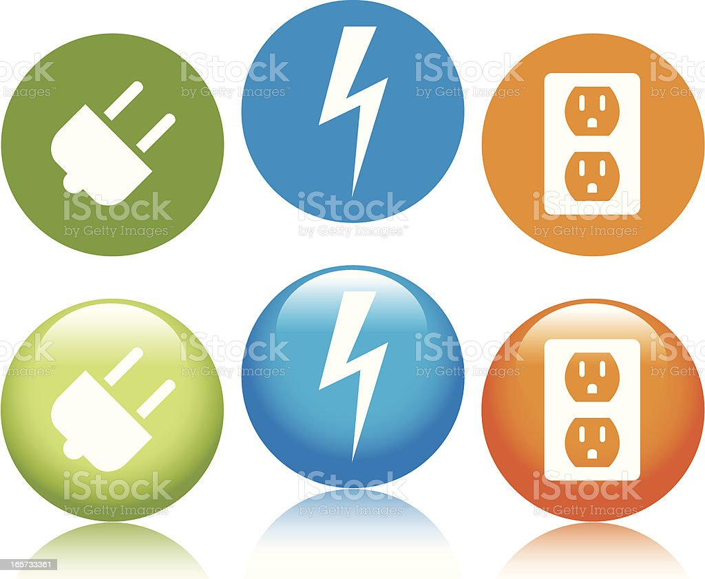 Electrical Outlet Icons royalty-free stock vector art