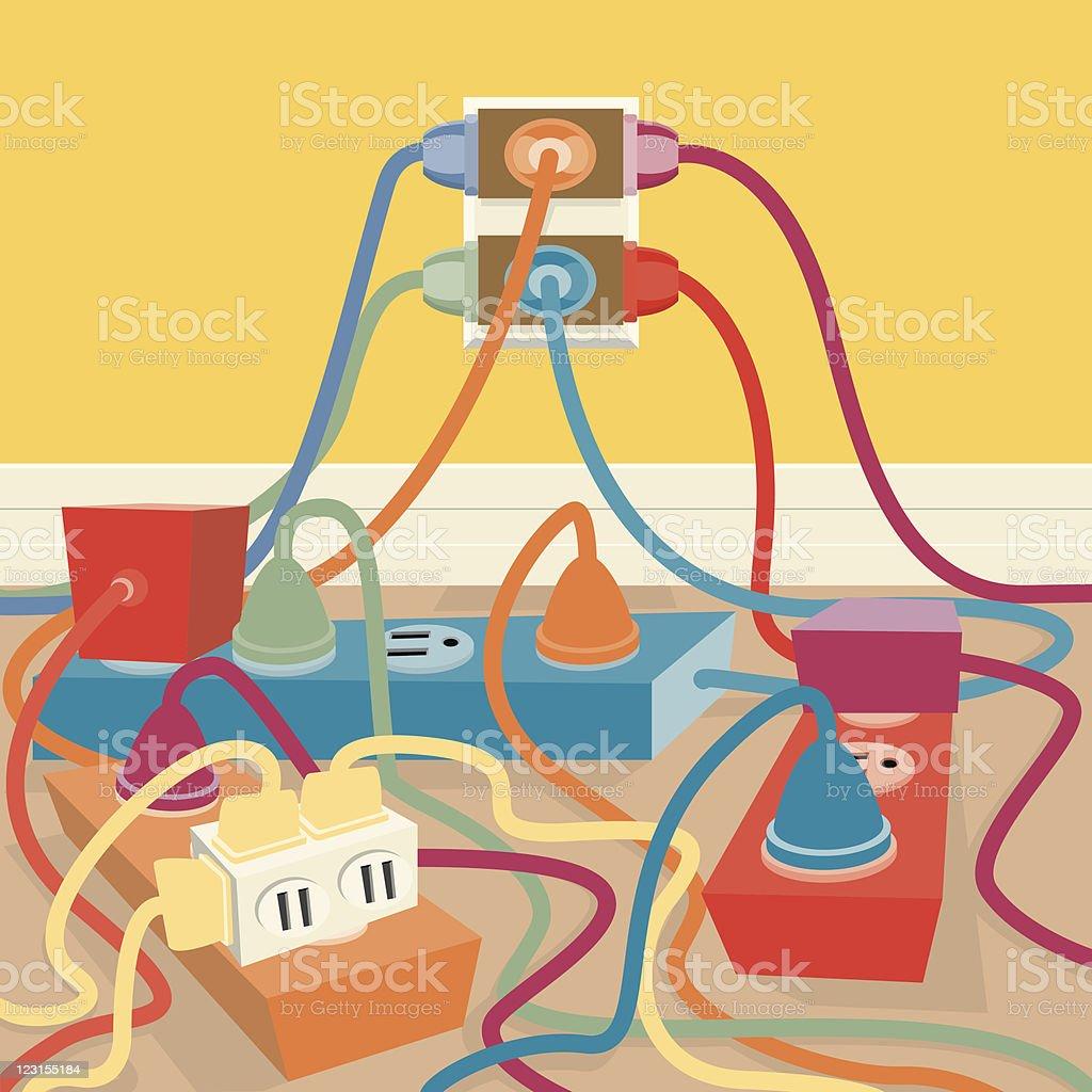 Electrical Outlet vector art illustration