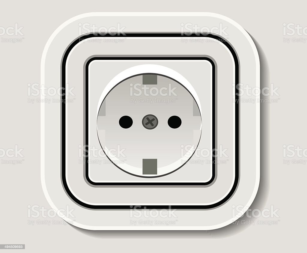 Prise électrique stock vecteur libres de droits libre de droits