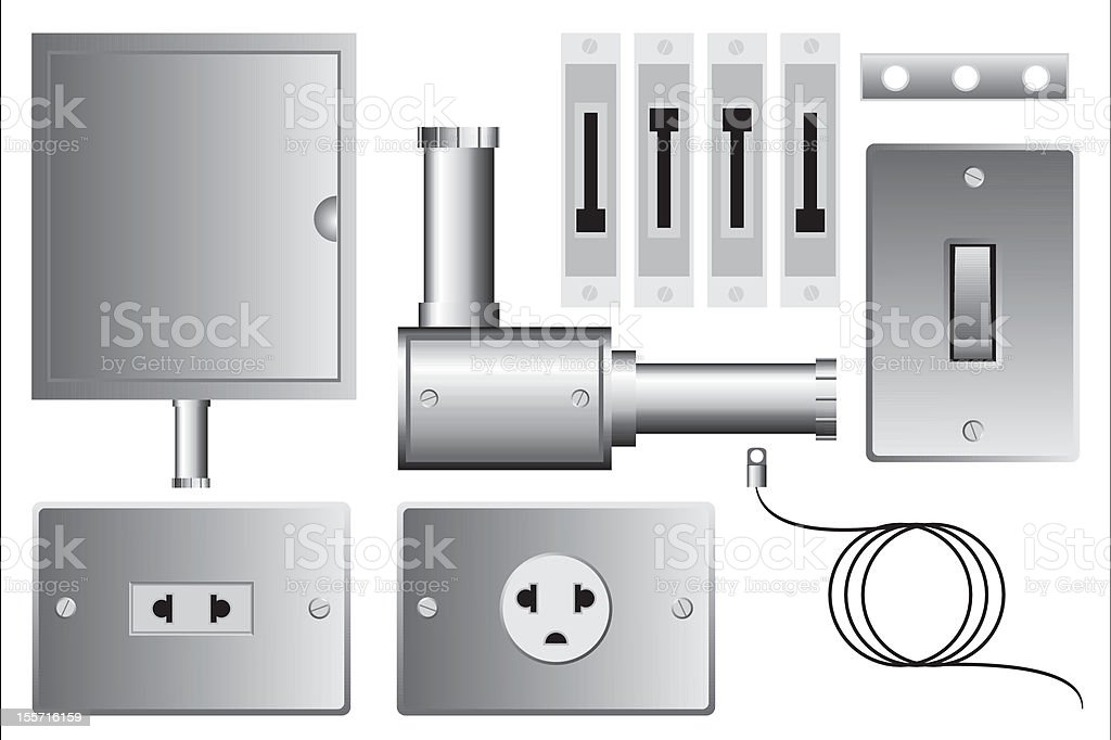 Electrical set royalty-free stock vector art
