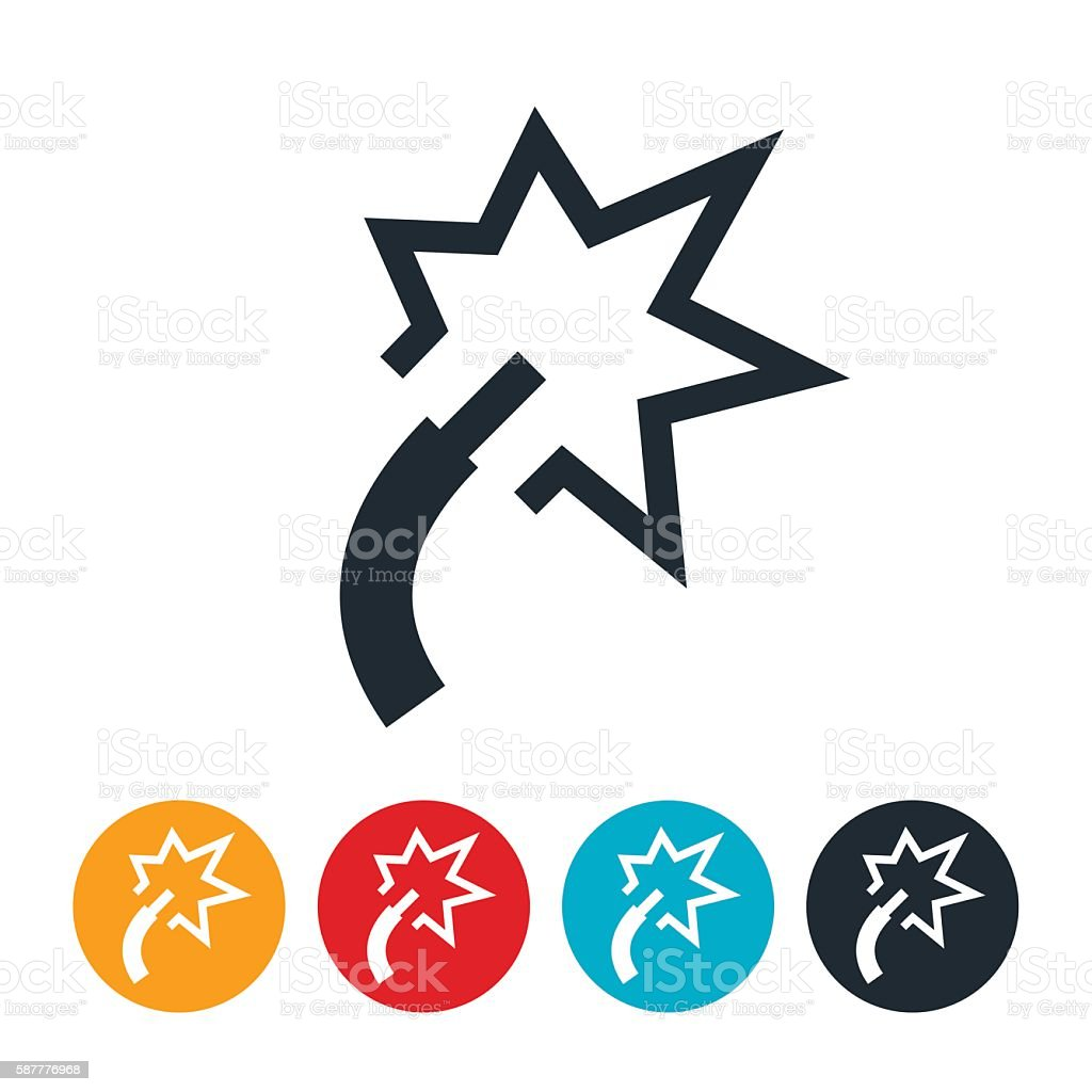 Electrical Wire Icon vector art illustration