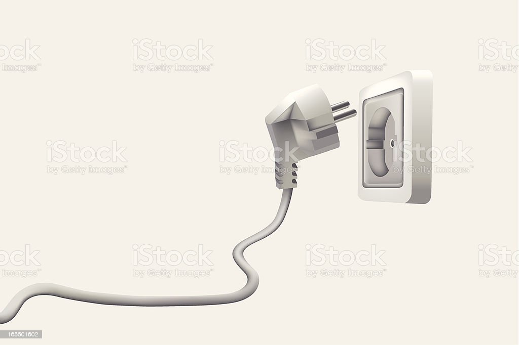 electrical-outlet(plug) royalty-free stock vector art