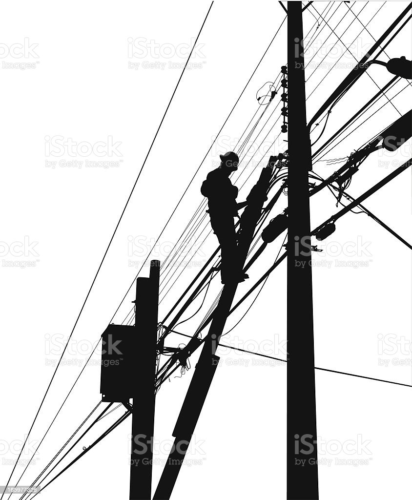 Electrician royalty-free stock vector art
