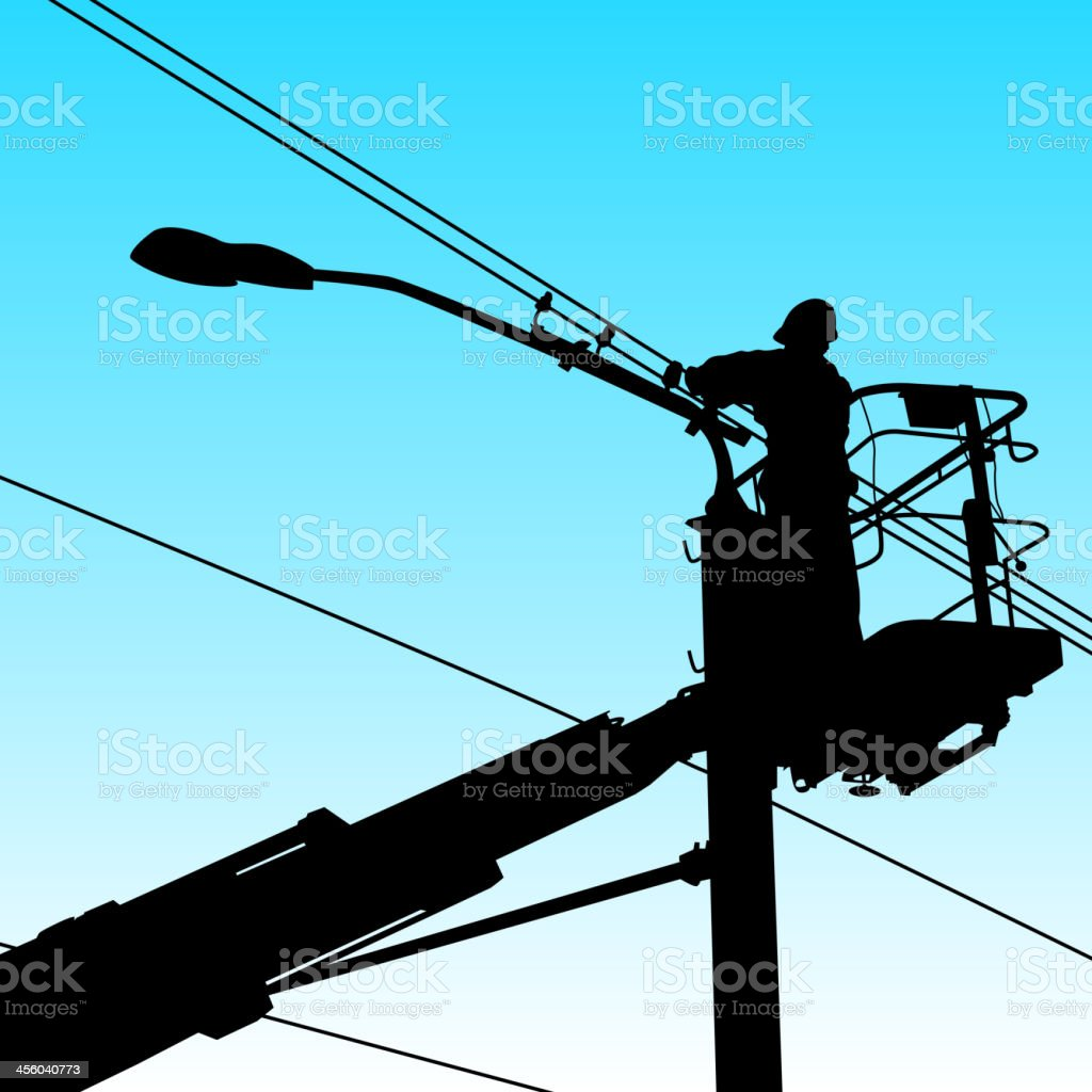 Electrician vector art illustration