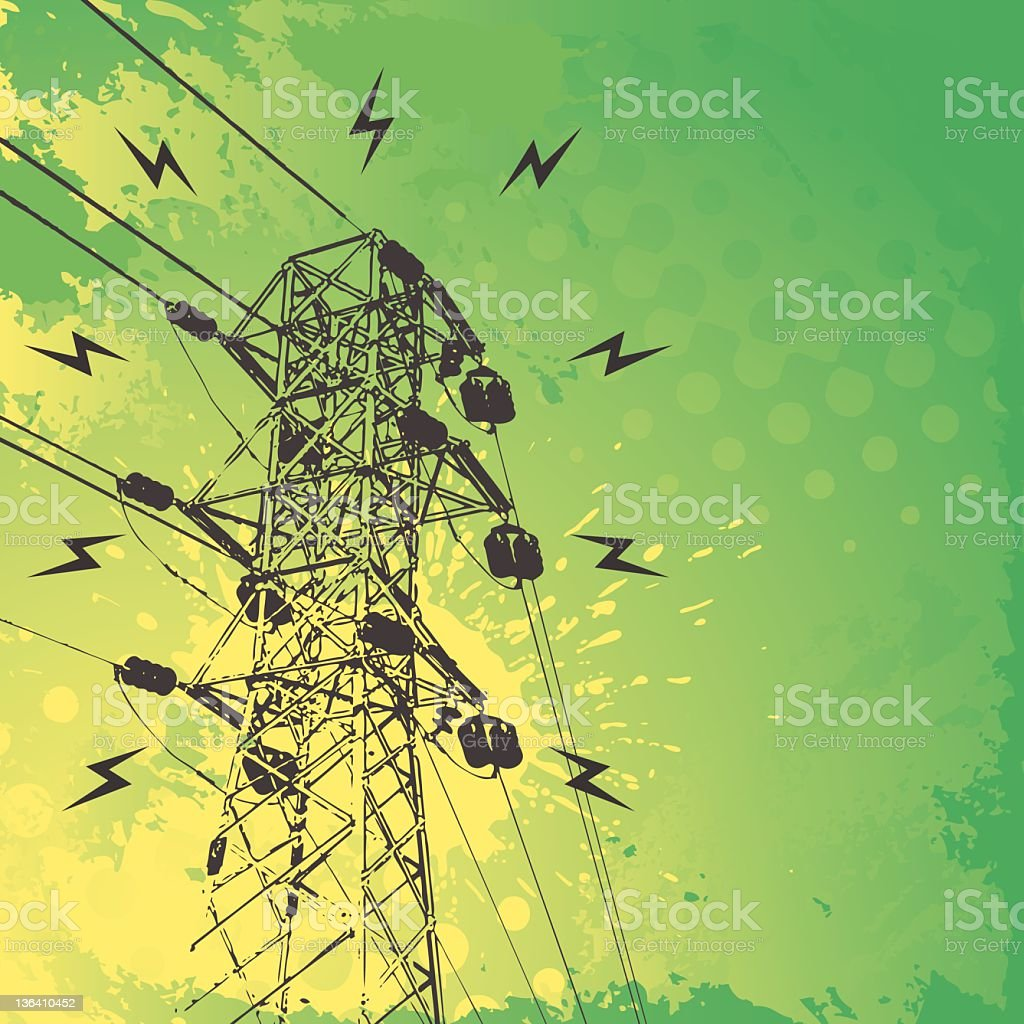 Electricity Background vector art illustration