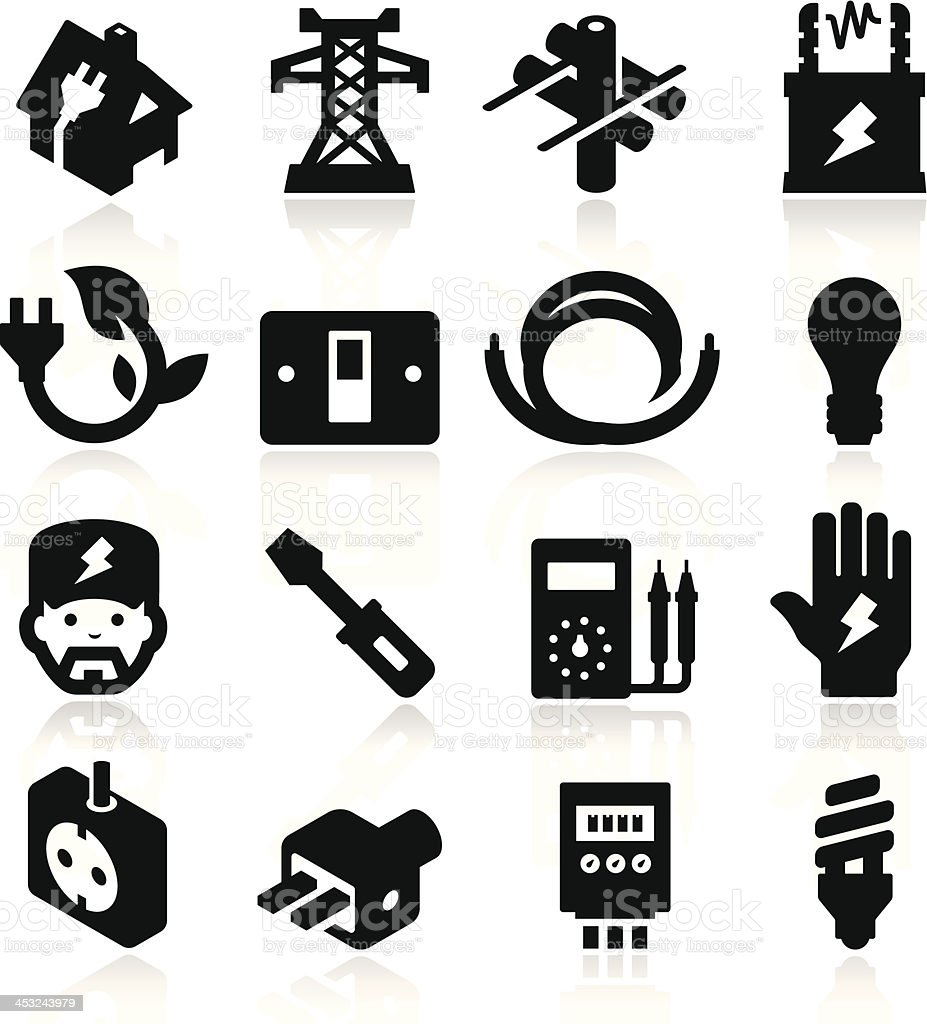 Electricity Icons royalty-free stock vector art