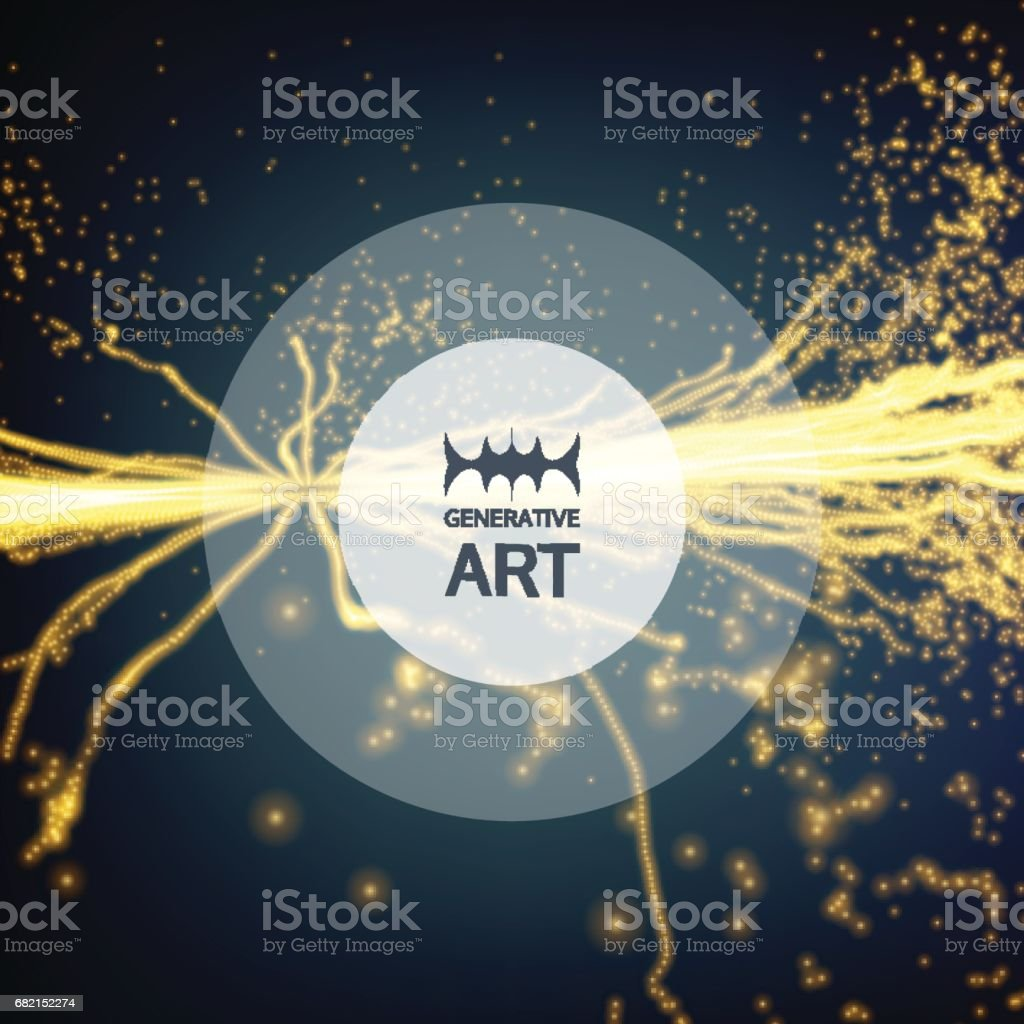Electricity lighting effects. 3d Futuristic technology style. Abstract Background. Glowing points. Vector Illustration. vector art illustration