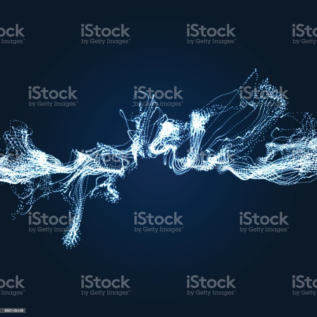 Electricity lighting effects. Array with Dynamic Particles. vector art illustration