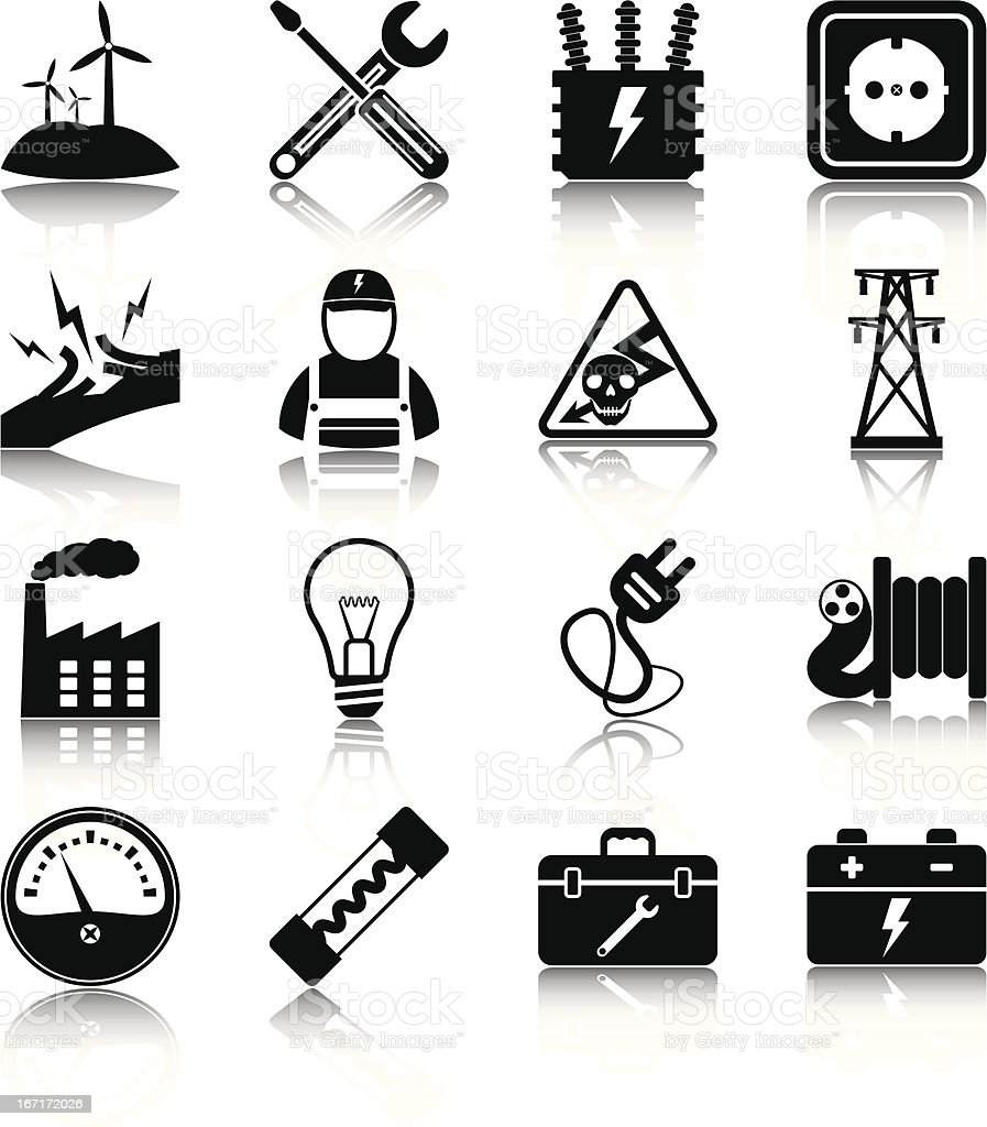 Electricity royalty-free stock vector art