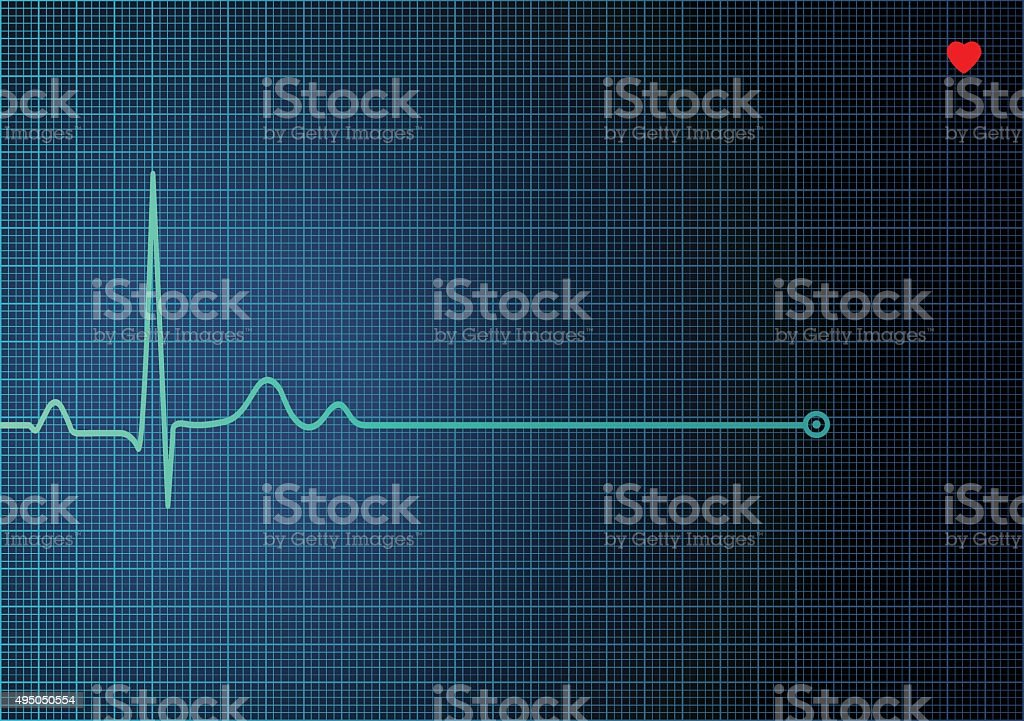 Electrocardiogram EKG vector art illustration