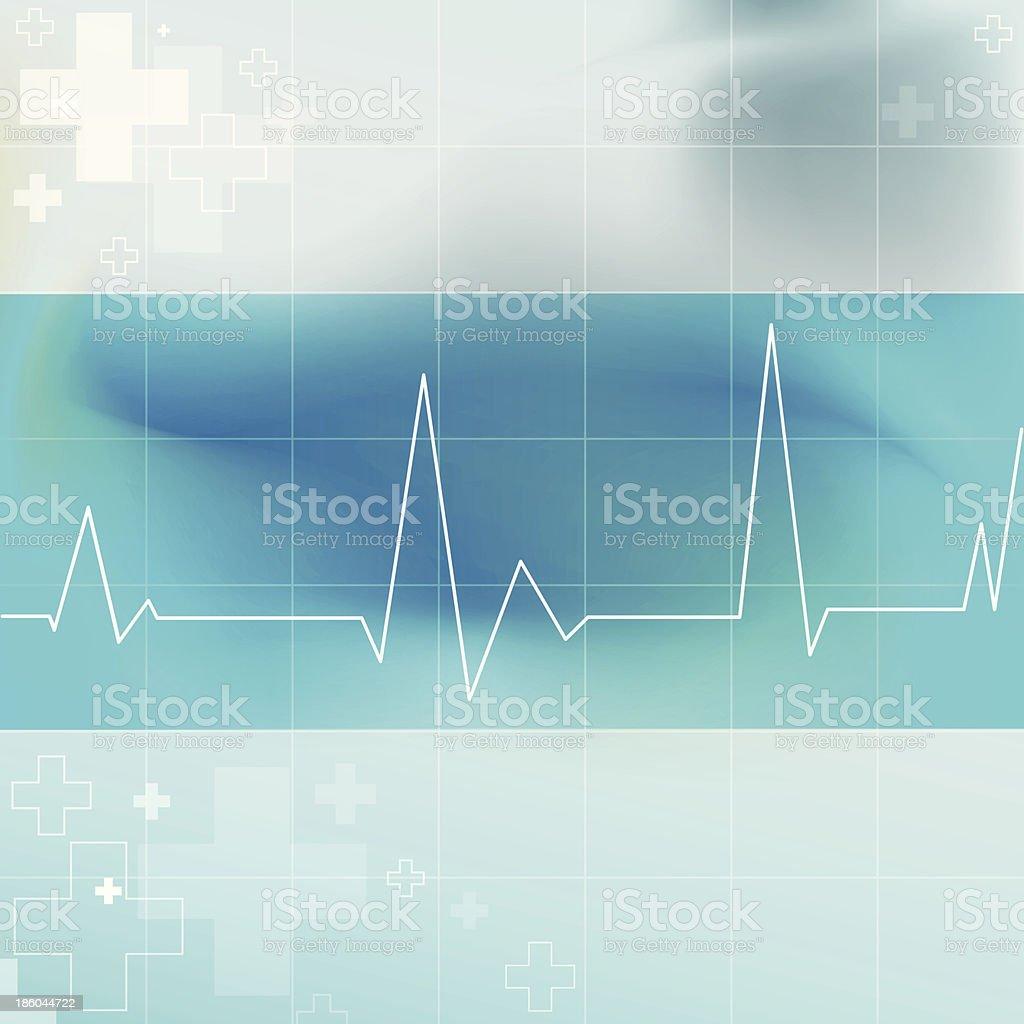 Electrocardiogram Graphic vector art illustration