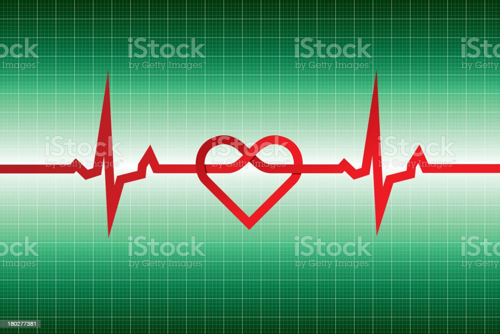 Electrocardiogram vector art illustration