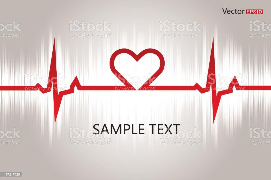 Electrocardiogram vector art illustration