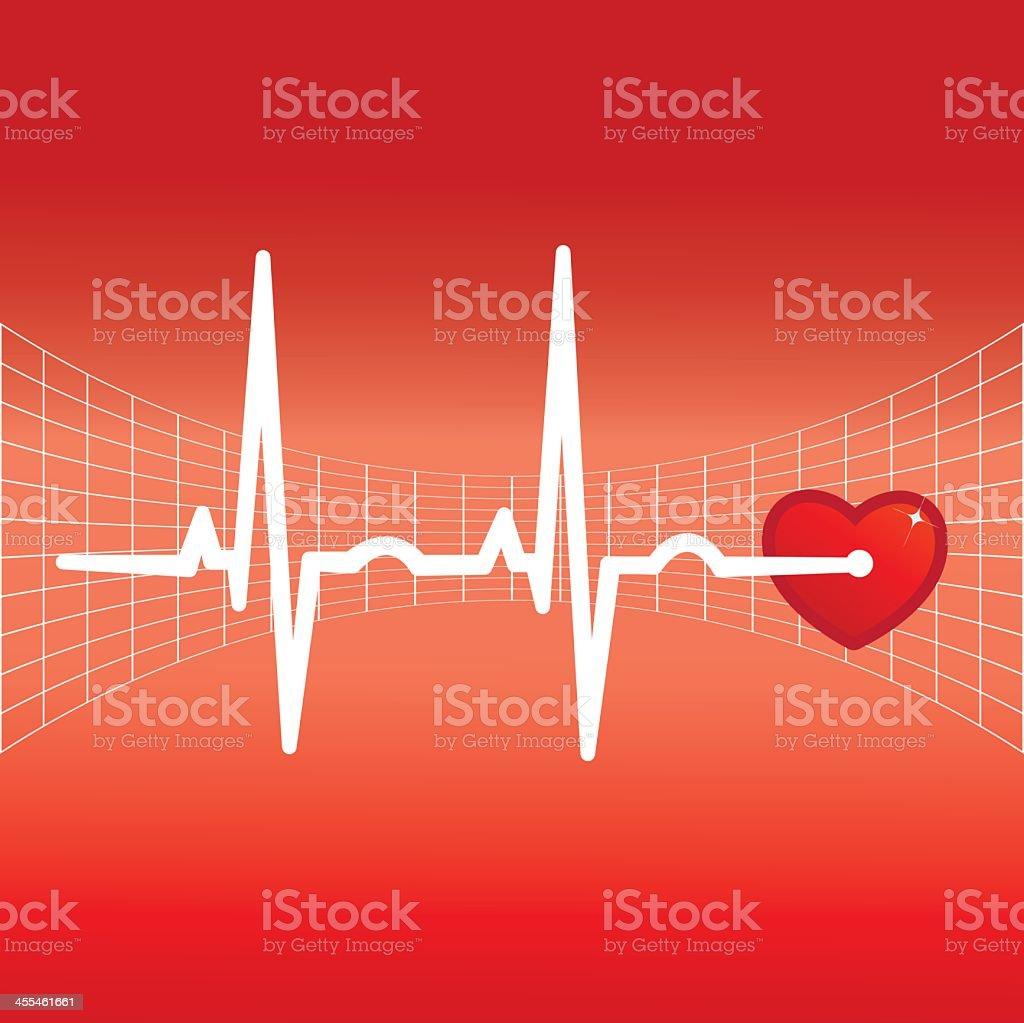 ECG Electrocardiogram with heart royalty-free stock vector art