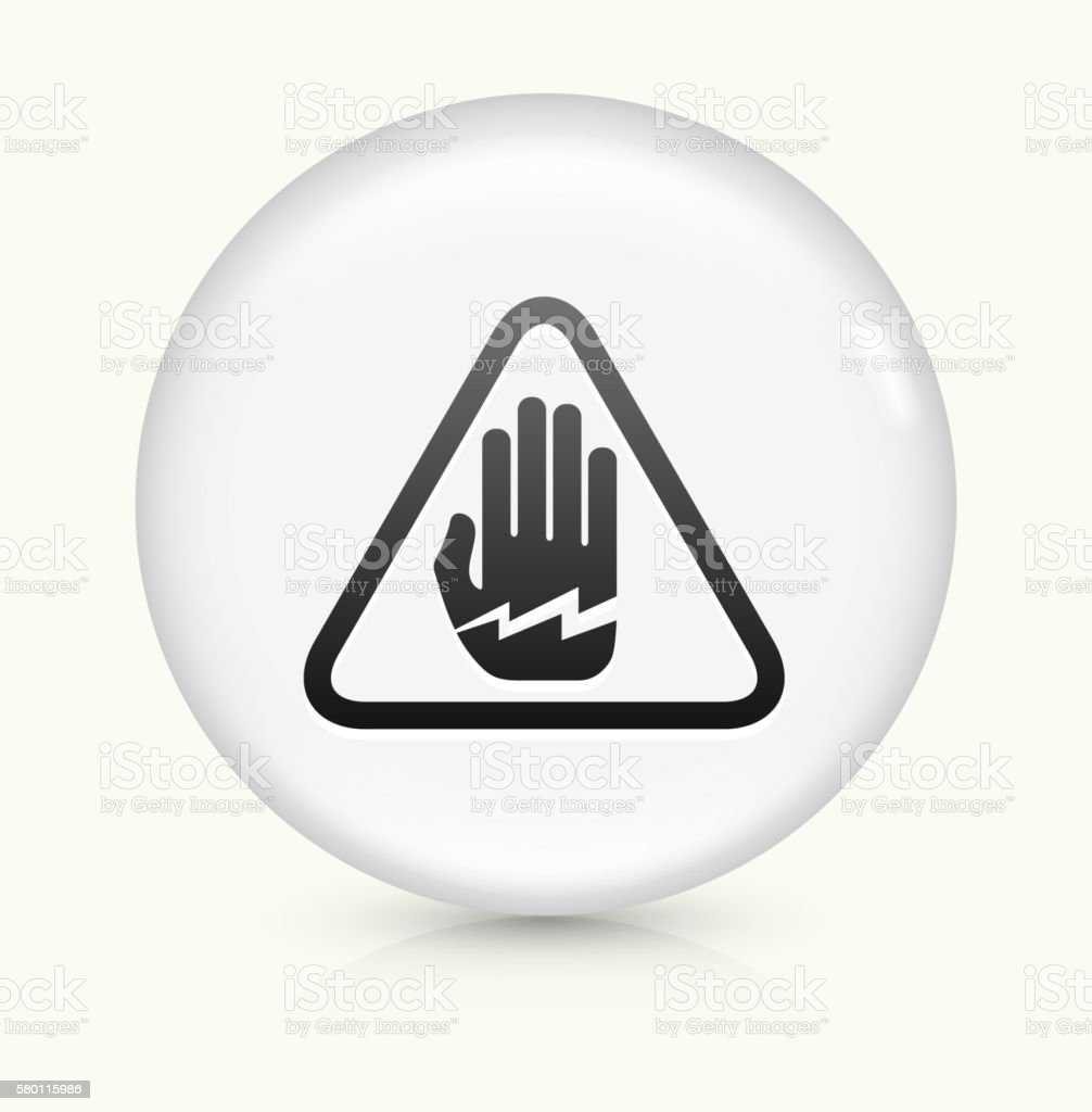 Electrocution icon on white round vector button vector art illustration