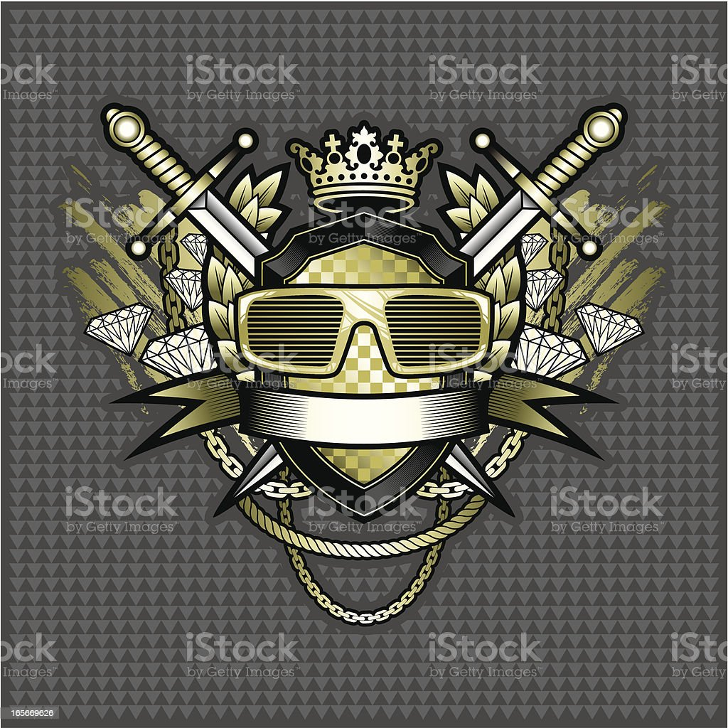 Electro-Hop coat of arms royalty-free stock vector art