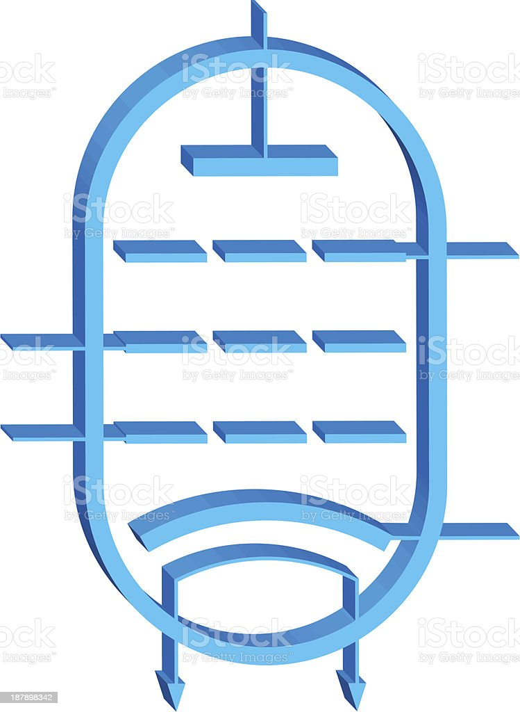 Electron tube royalty-free stock vector art