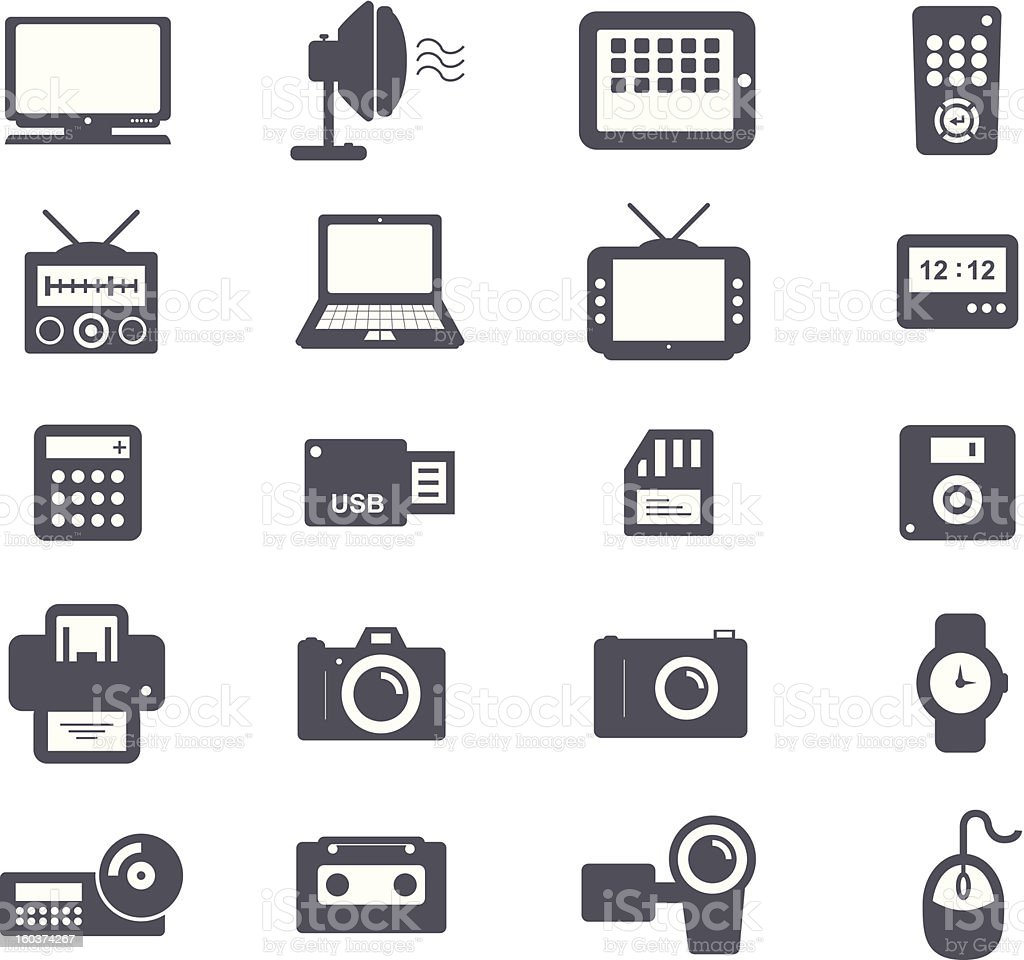 Electronic and Accessories Icon vector art illustration