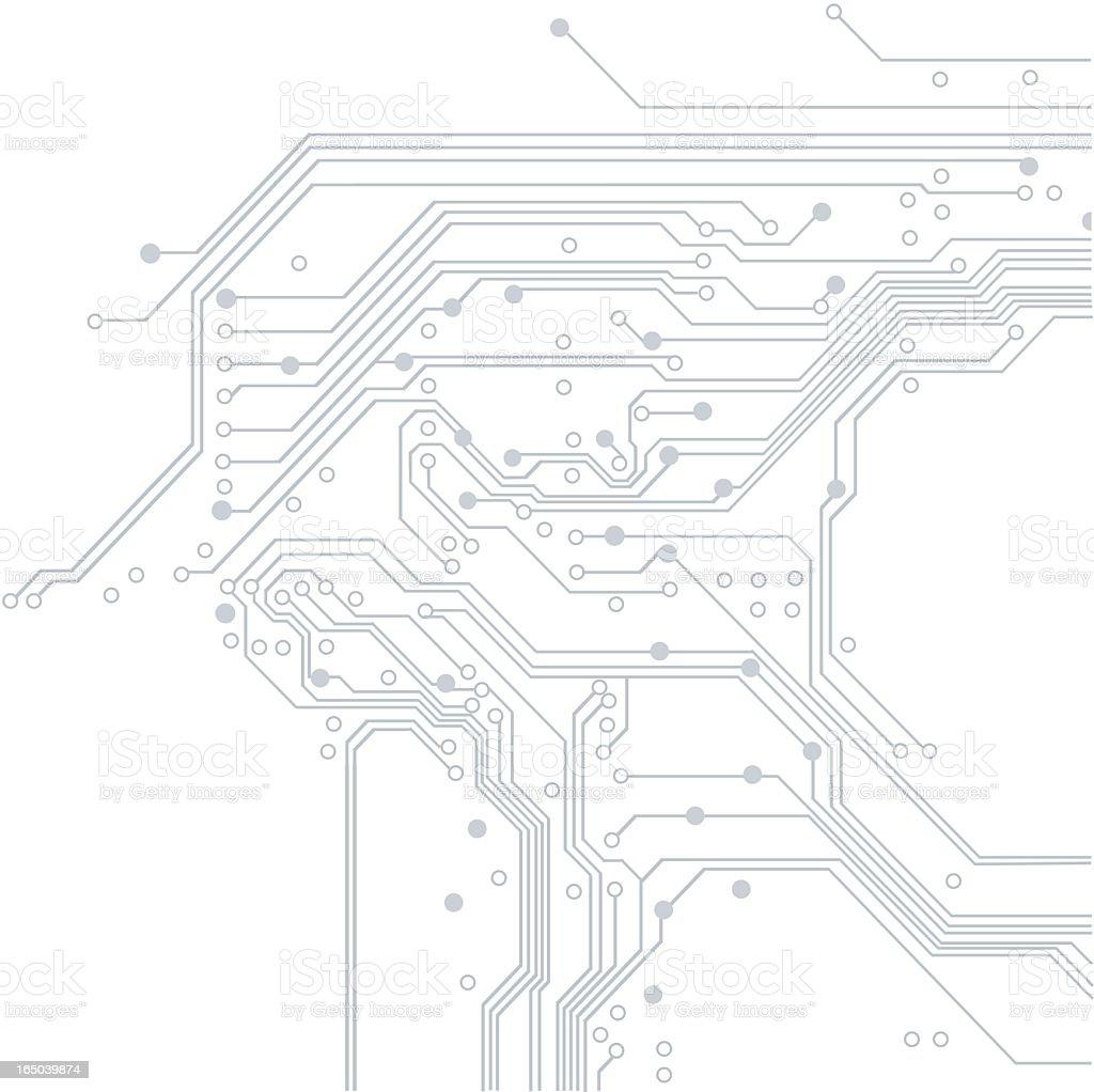 Electronic Background Vector vector art illustration
