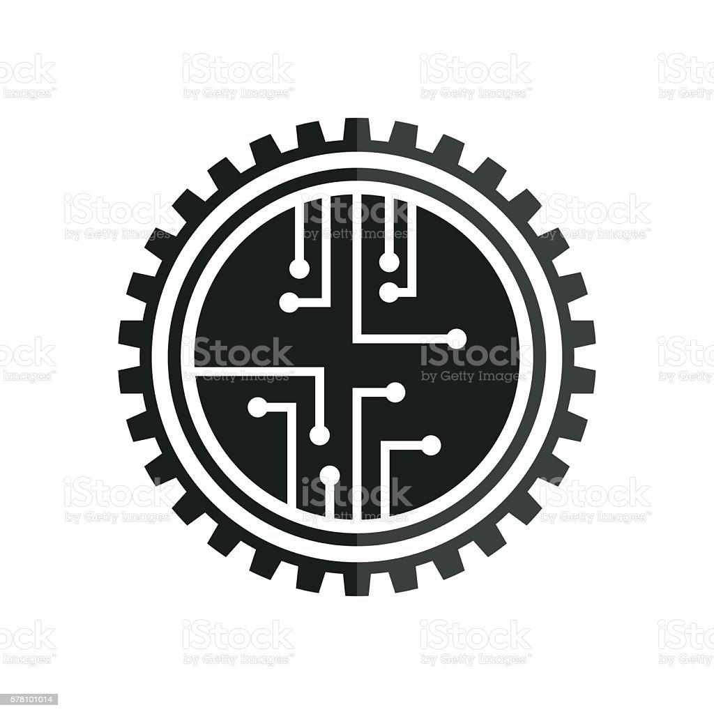 electronic board vector art illustration
