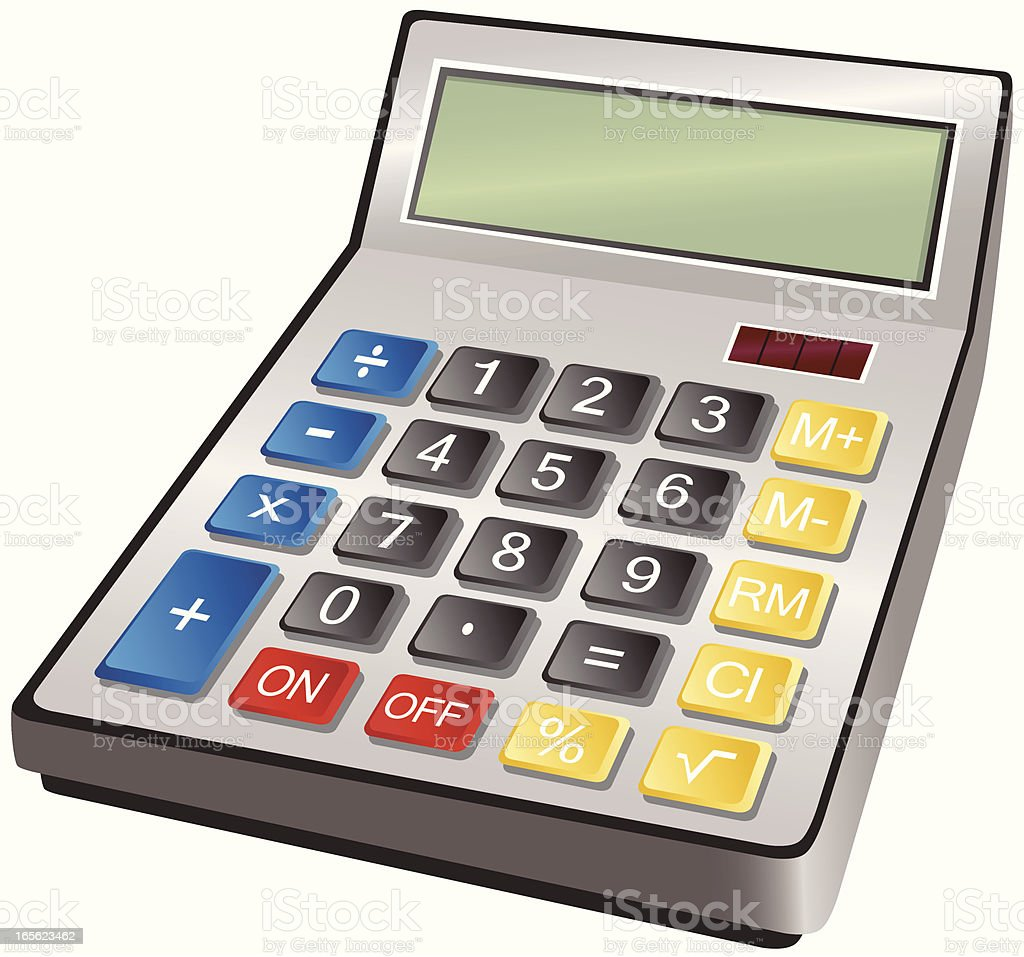 Electronic calculator royalty-free stock vector art