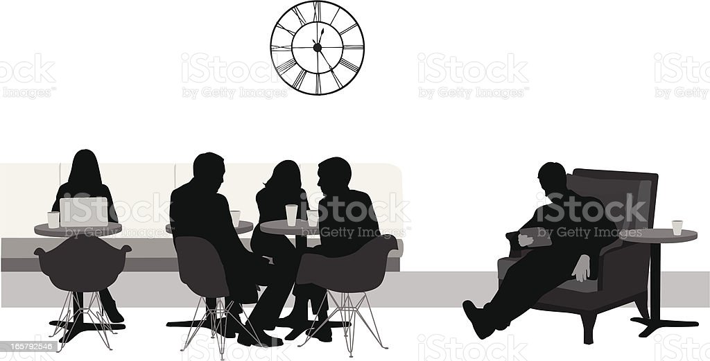 Electronic Coffee Vector Silhouette royalty-free stock vector art