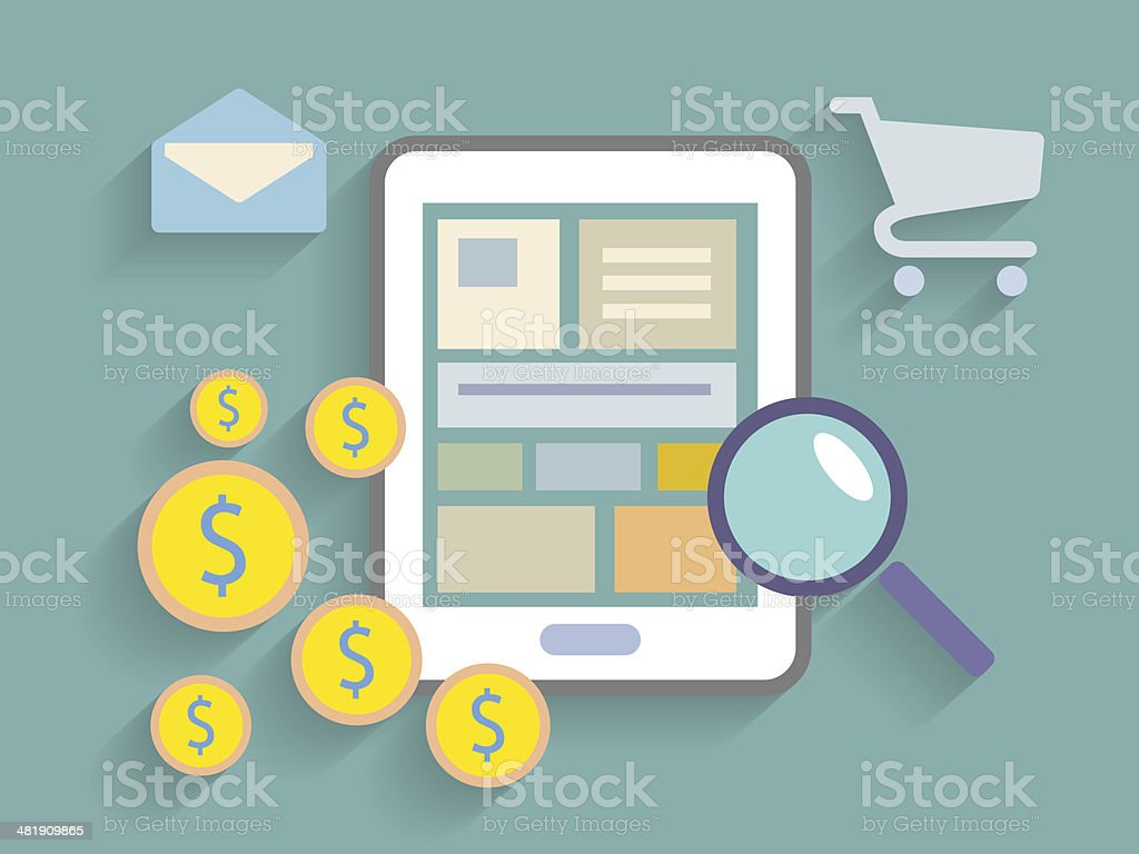 electronic commerce concept royalty-free stock vector art