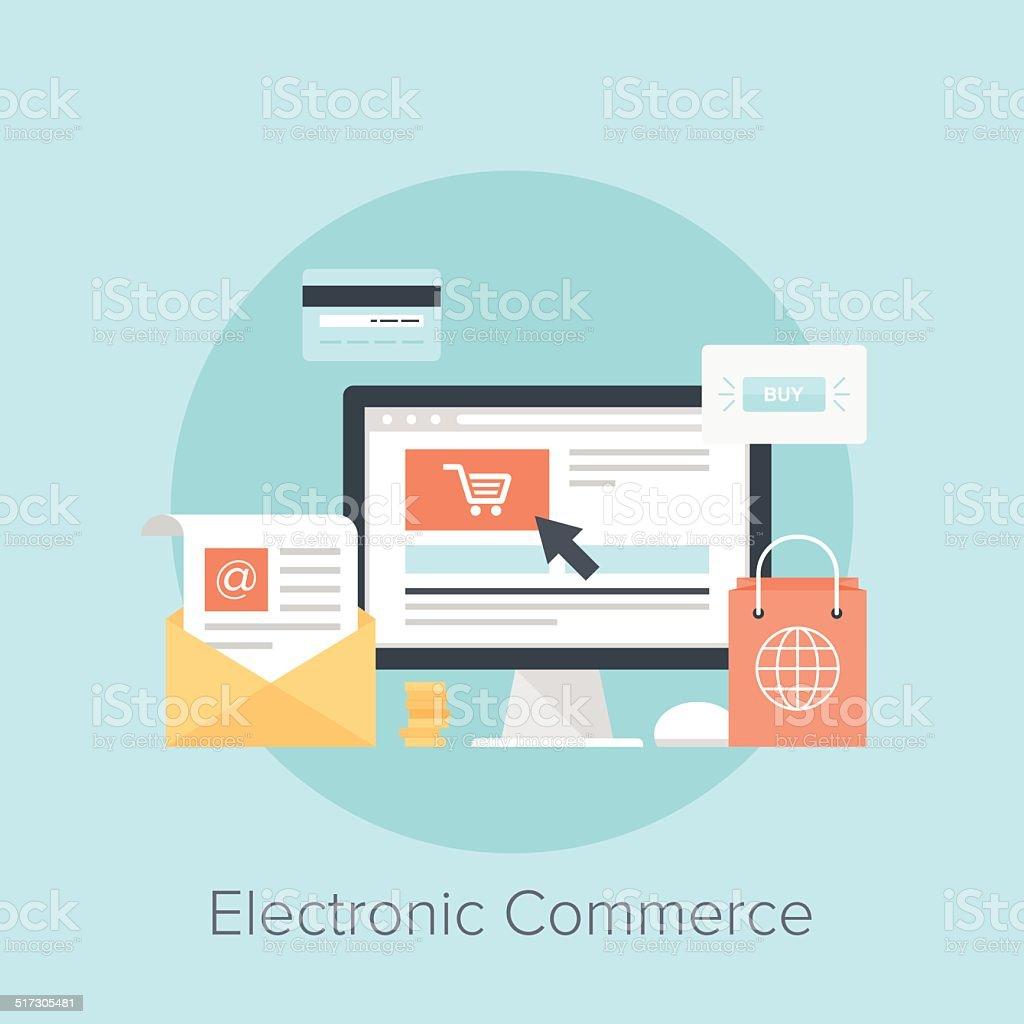 Electronic Commerce vector art illustration