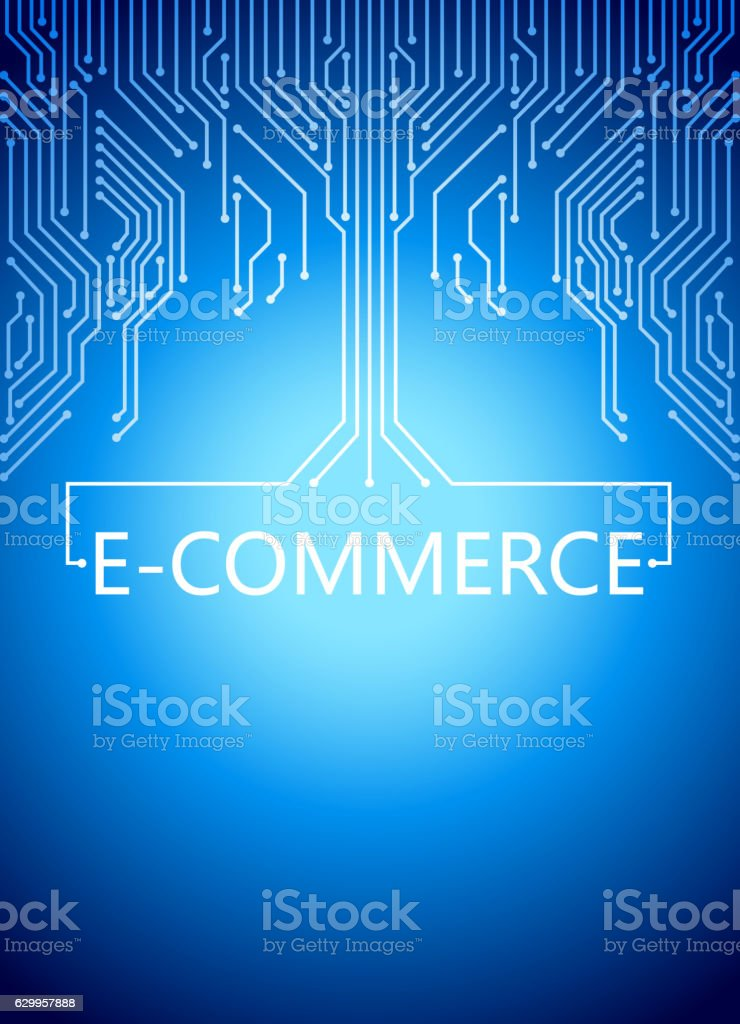 Electronic Commerce vector art illustration