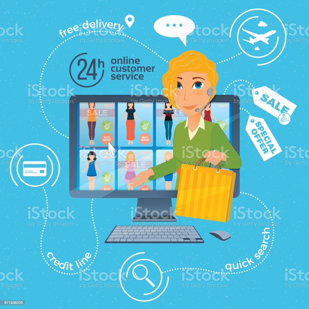 Electronic commerce with online shopping and delivery image with...