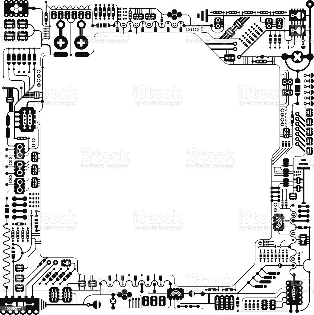 Electronic diagram frame Illustration royalty-free stock vector art