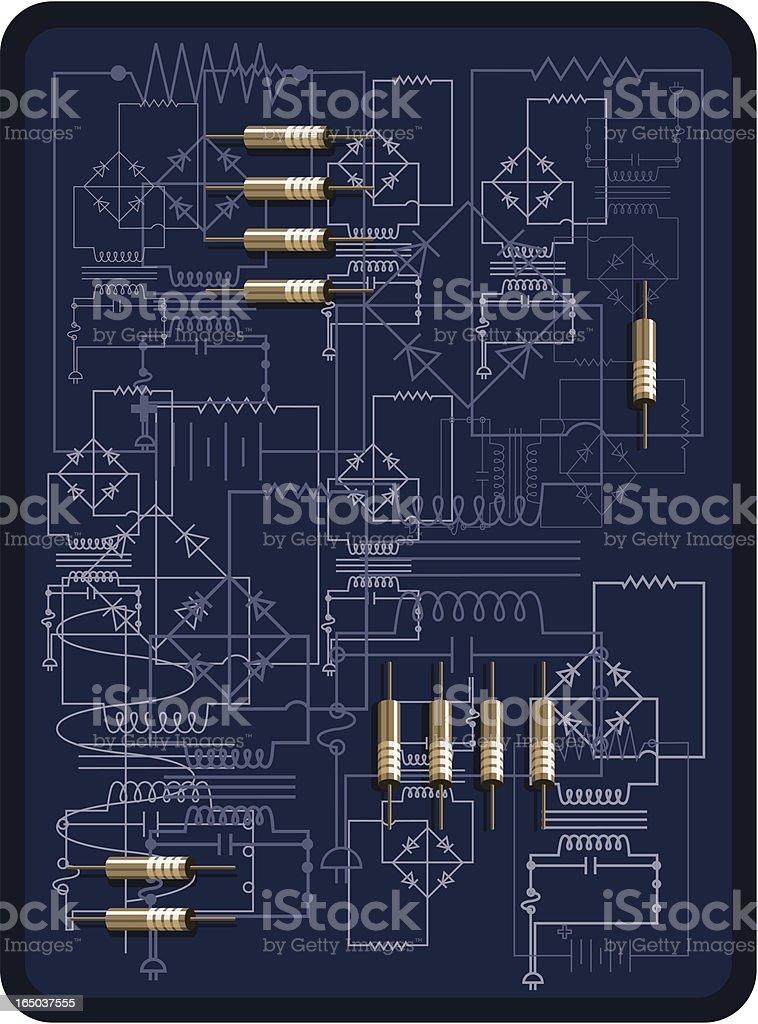 Electronic Diagram (negative) royalty-free stock vector art