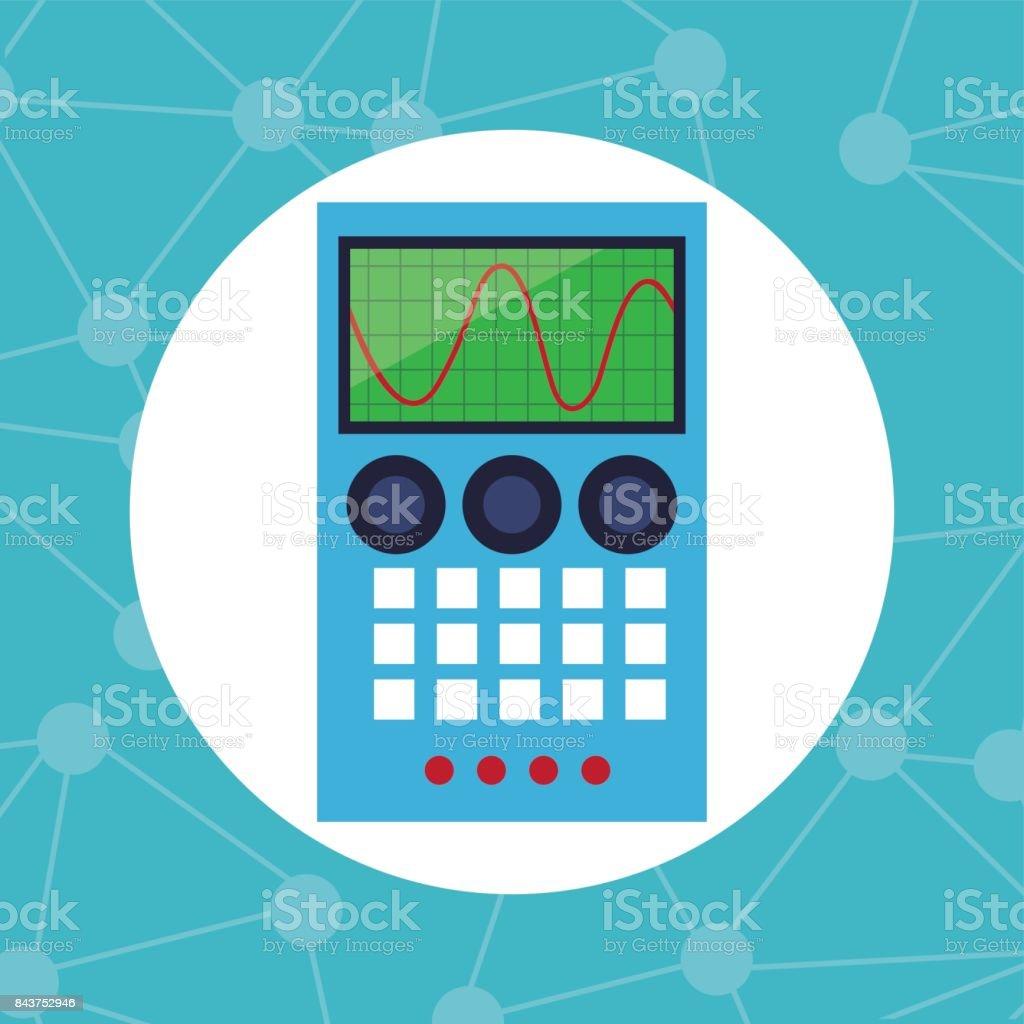 electronic element laboratory chemistry vector art illustration