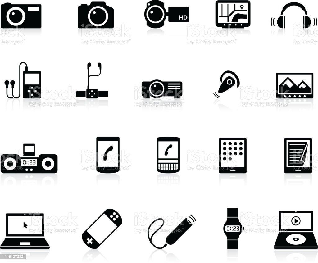 Icon Electronics Srinagar: Elektronisches Gerät Symbole Vektor Illustration 149127392