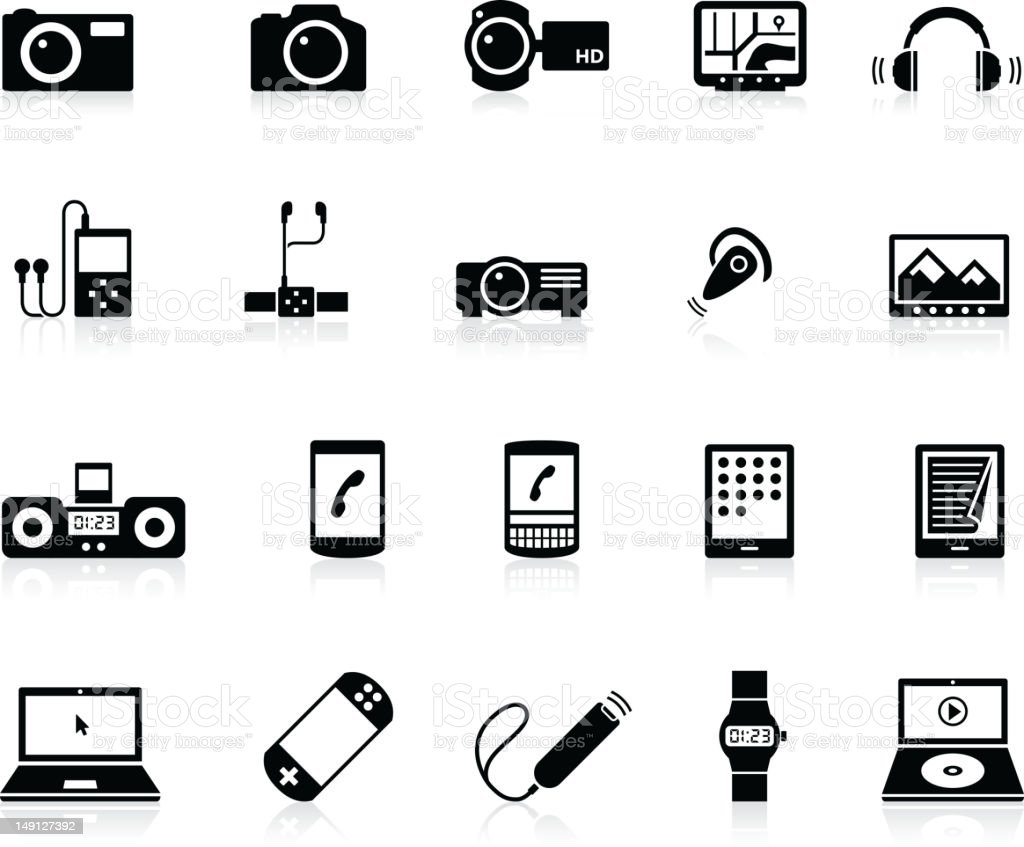 Electronic Gadget icons vector art illustration