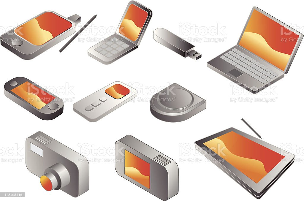 Electronic gadgets royalty-free stock vector art