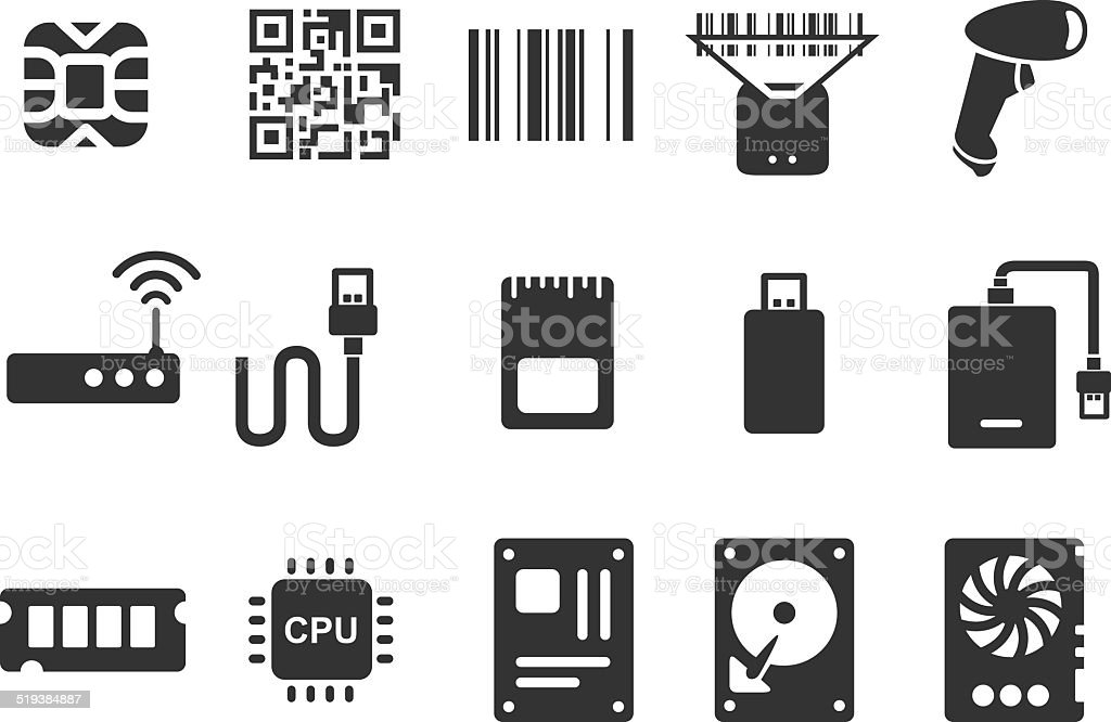 Electronic icons - Illustration vector art illustration