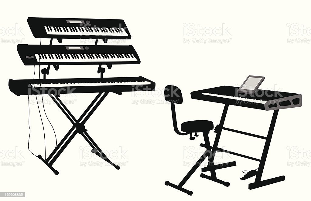 synthesizer clip art  vector images  u0026 illustrations