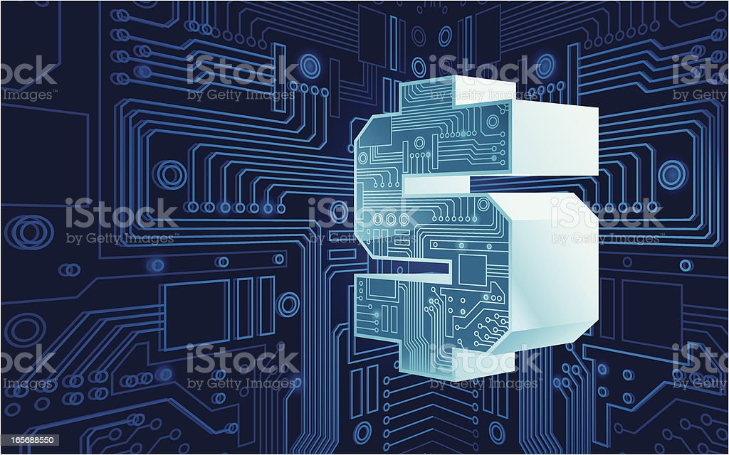 electronic money sign royalty-free stock vector art