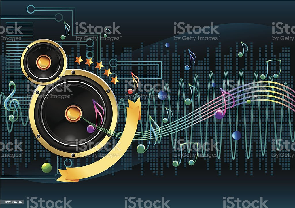 Electronic music royalty-free stock vector art