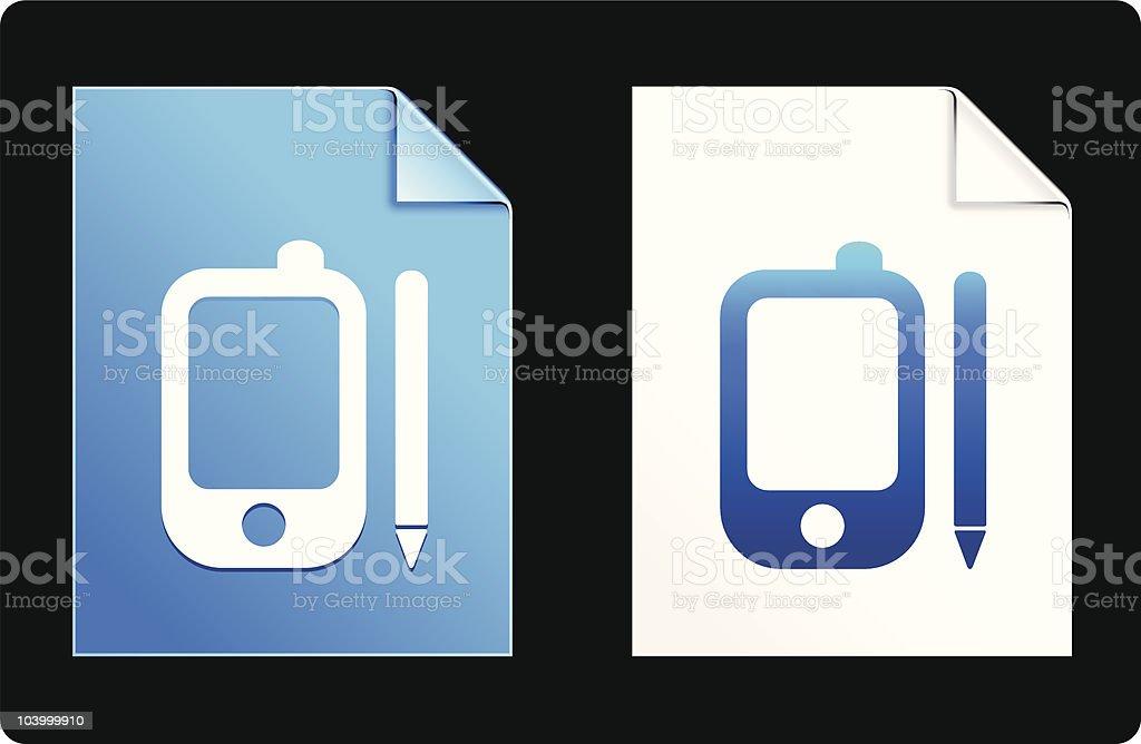 Electronic organizer icon royalty-free stock vector art