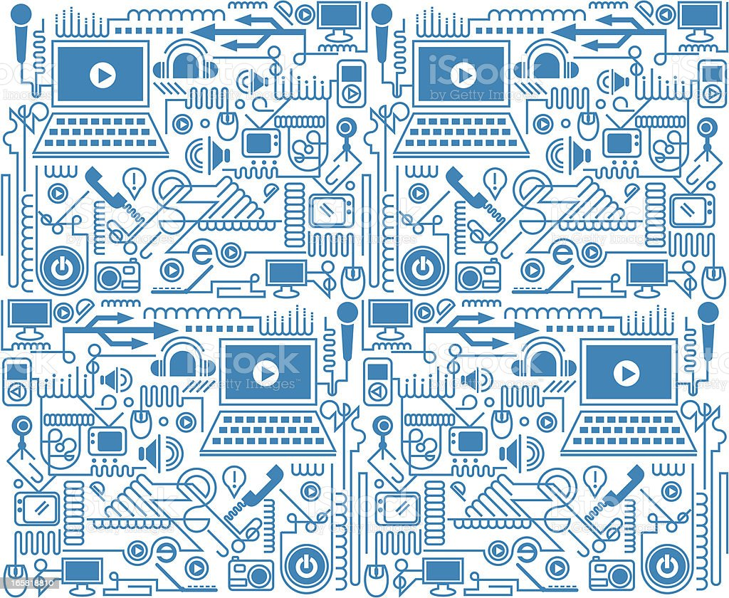 electronic products texture royalty-free stock vector art