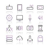 Electronic Sports and Video Games icons set 2