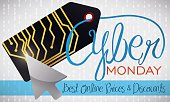 Electronic Tag with a Pointer Celebrating Cyber Monday